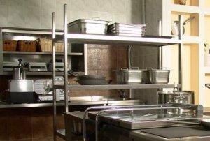 Стеллажи для кухни ресторана и кафе, столовой