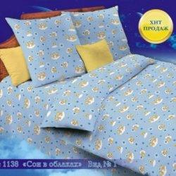 Постельное белье бязь Иваново детское - 1138-1 сон в облаках голубой