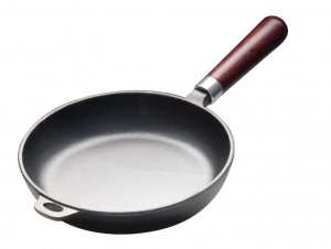 Сковорода чугунная 280/60 с деревянной ручкой Luxstahl [НЕR28]