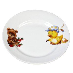 Тарелка мелкая 175 мм фаянс утенок/медвежонок