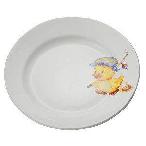 Тарелка мелкая 200 мм фаянс утенок/медвежонок